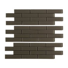"""12"""" x 4"""" Matted Glass Subway Tile in Leather Kit"""