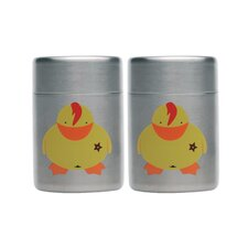 Children's Line Sheriff Duck Mini Salt and Pepper (Set of 2)