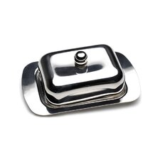 CookNCo Covered Metal Butter Dish