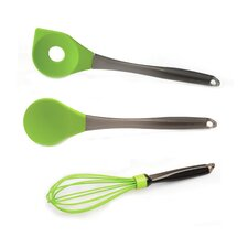 Geminis 3 Piece Silicone Spoon & Whisk Set