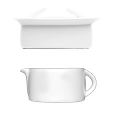 Butter Dish and Gravy/Sauce Boat 3 Piece Set