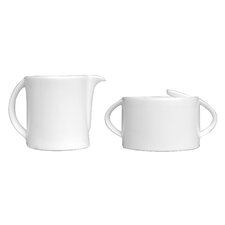 Concavo Sugar and Creamer (Set of 2)