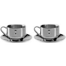 Straight 3 oz. Cappuccino cup & Saucer (Set of 2)
