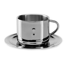 Straight 3 oz. Coffee Cup and Saucer (Set of 2)