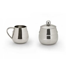 Straight Sugar & Creamer (Set of 2)