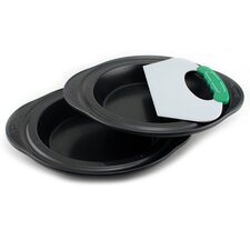 Perfect Slice 3 Piece Pie Pan Set with Slicer