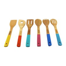 CookNCo 6 Piece Bamboo Utensil Set