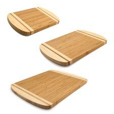 3 Piece Bamboo Chop Board Set