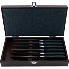 Bistro Steak Set with Wooden Case (Set of 6)