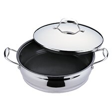 Zeno 4-Qt. Stainless Steel Round Braiser with Lid