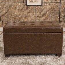 Elegant Waxed Texture Tufted Storage Ottoman