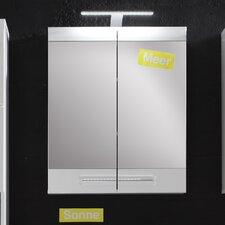 Sleek 60cm x 71cm Surface Mount Flat Mirror Cabinet