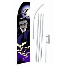 Halloween Vampire Swooper Flag and Flagpole Set