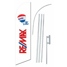 Remax Swooper Flag and Flagpole Set