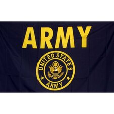Army Gold Armored Traditional Flag