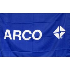 Arco Gas Oil Logo with Words Traditional Flag