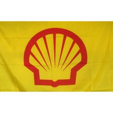Shell Gas Oil Logo with Words Traditional Flag