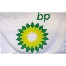 Bp Gas Oil Logo with Words Traditional Flag