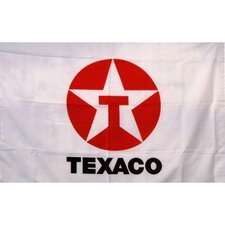 Texaco Gas Oil Logo with Words Traditional Flag