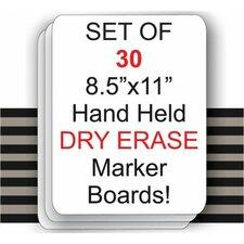 Student Dry Erase Marker Lap Whiteboard (Set of 30)