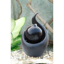 Fiber and Resin Zen Ball Fountain