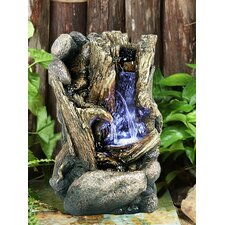 Fiber and Resin Tree Trunk Fountain