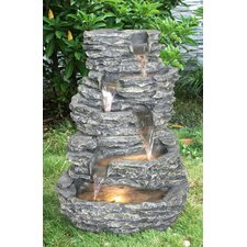 Fiber and Resin Rock Fountain