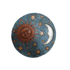 Stepping Stone with Sun, Moon and Stars Wall Decor (Set of 2)
