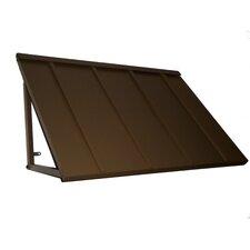 Door & Window Metal Standing Seam Bronze 6 ft. x 3 ft. Awning