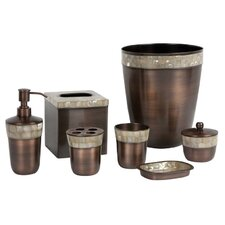 Opal Copper 7 Piece Bath Accessory Set