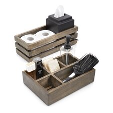 2 Piece Driftwood Bathroom Accessory Set