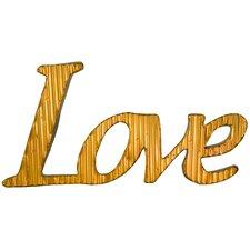 Pinnacle Corregated Word Love Galvanized Wall Décor