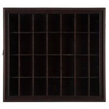 Gallery Solutions Shot Glass Case Wall Décor