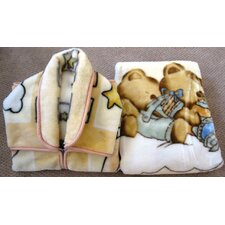 Baby Snuggle and Baby Blanket Set 2 Pieces