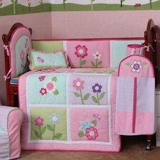 4 Piece Cotton Crib Bedding Set