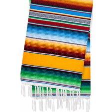 Hand-Crafted Rainbow Mexican Saltillo Serape Yoga Blanket