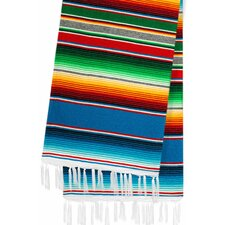 Hand-Crafted Rainbow Mexican Saltillo Serape Yoga Blanket