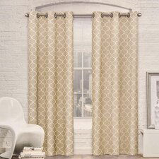 Moroccan Trellis Room Darkening Curtain Panel (Set of 2)