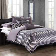 Abstract Stripe 3 Piece Duvet Set