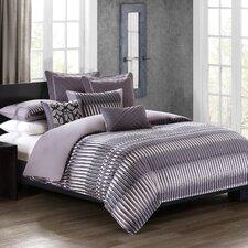Abstract Stripe 4 Piece Comforter Set