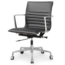 Leather Mid-Back Executive Office Chair