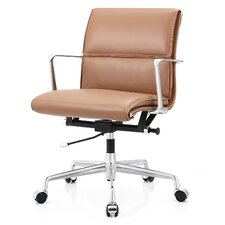 Mid-Back Leather Office Chair