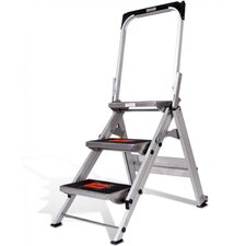 3-Step Aluminum Safety Step Stool with 300 lb. Load Capacity