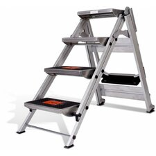 5 ft Aluminum Safety Step Ladder with 300 lb. Load Capacity