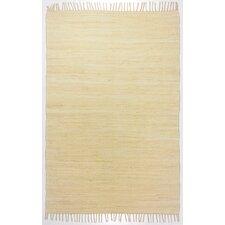 Handgewebter Teppich Happy Cotton in Natur