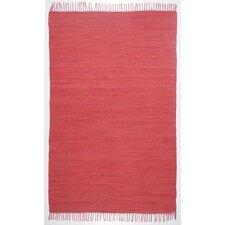 Handgewebter Teppich Happy Cotton in Rot