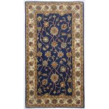 Handgefertigter Teppich Ziegler in Blau