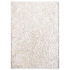 Handgefertigter Teppich Girly in Weiß