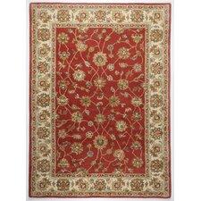 Handgefertigter Teppich Royal Ziegler in Terrakotta
