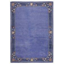 Handgefertigter Teppich Suha in Blau